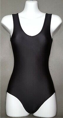 swimsuit CC Black Sleeveless Leotards Lycra Ballet Dance girls ladies jazz