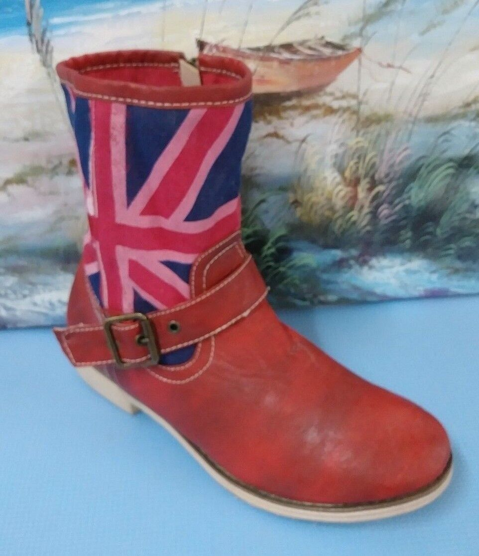 Wanted Women's Boots  Size 10 South Western Textile Upper Cowgirl  Red