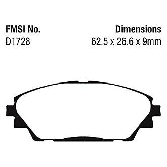 For Mazda 3 2014-2018 EBC UD1728 Ultimax  Replacement Front Brake Pads
