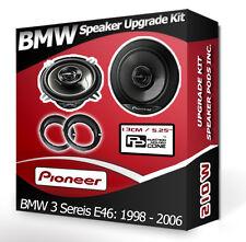BMW 3 Series E46 Front Door Speaker Pioneer car speakers + adapter pods 210W