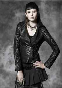New PUNK RAVE Gothic Jacket Coat Black Red Velveteen Y656 ALL STOCK IN AUSTRALIA