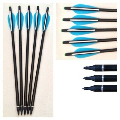 """10 X 17 """"blu Fibra Di Vetro Campo Suggerimento On / Off Tiro Con L'arco Freccia Balestra Bulloni Broadhead-mostra Il Titolo Originale"""