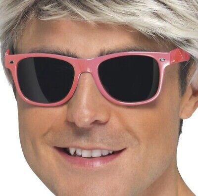 1980s Costume Occhiali 80s Neon Pink Occhiali Da Sole Da Smiffys-mostra Il Titolo Originale