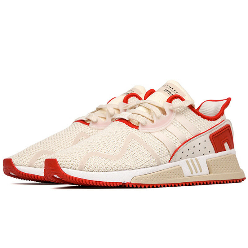 NEW Adidas Originals EQT Cushion ADV Men's shoes Off White Scarlet Red B22688