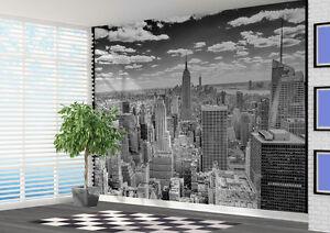 Wallpaper Black And White Manhattan View Wall Mural Photo 21163590 New York Ebay