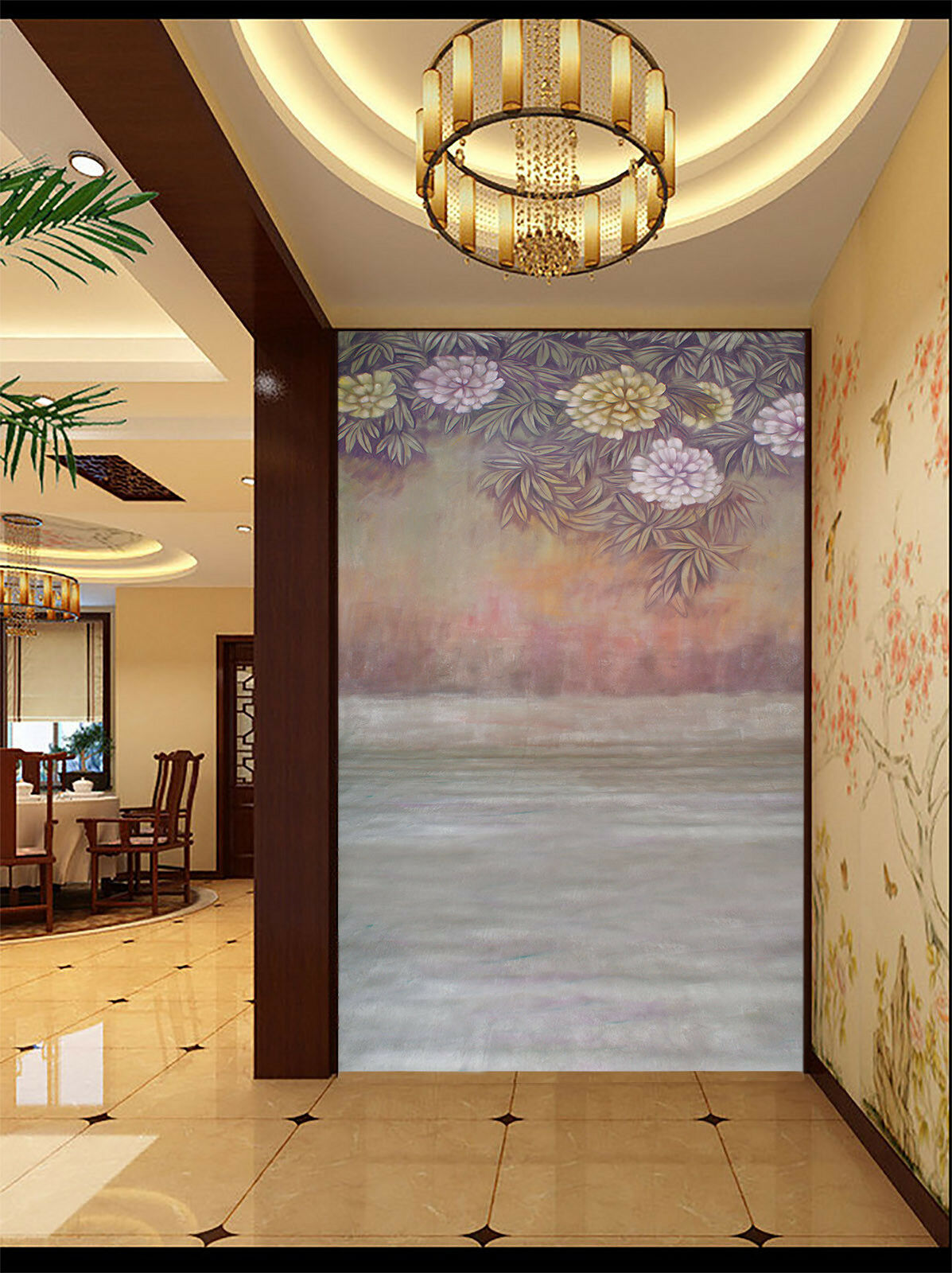 3D Flowers Leaves 422 Wall Paper Wall Print Decal Wall Deco Indoor Mural Carly