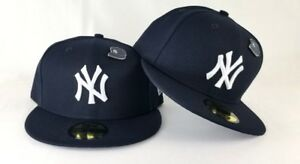 New Era Metal Pin New York Yankee Navy 59Fifty Fitted Hat
