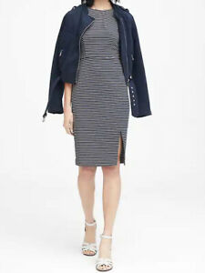 NWT-Banana-Republic-New-129-00-Women-Stripe-Ponte-Sheath-Dress-Size-0-2-14