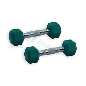 BODYRIP-Hexagonal-Pesas-De-Goma-Hexagonal-Revestido-ERGO-Pesos-2-X-2KG-Gimnasio-Peso