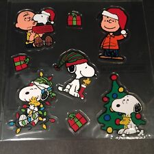 Charlie Brown Peanuts Christmas Play Jelz Window Clings Snoopy Woodstock NEW!