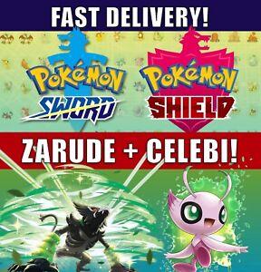 Zarude-and-Celebi-2-Pack-Pokemon-Movie-Coco-Pokemon-Sword-Shield-LEGIT