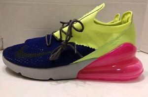 16da2b7a4df2 New Nike Air Max 270 Flyknit Regency Purple Grey Volt AO1023-501 ...