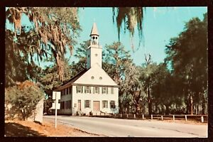 GEORGIA-Midway-Congregational-Church-U-S-17-South-of-SAVANNAH-Curteich-Card