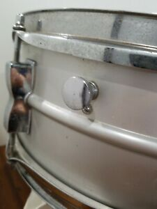Vintage-Ludwig-SNARE-DRUM-Acrolite-Hard-Shell-Case-Silver-Speedy-Shipping