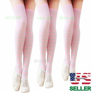 7e3c754b291 Women Thigh High Socks Over Knee Leg Warmer Girls Tall Plus Size ...