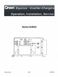 ONAN Series HJBAA Equinox Inverter Service Manual | eBay on