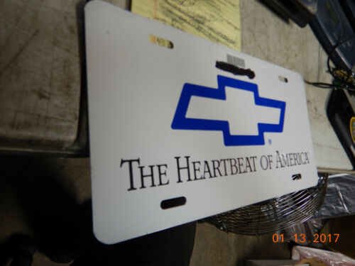 5  HEARTBEAT OF AMERICA LICENSE PLATES CHEVROLET CHEVELLE CHEVY CAMARO PLATE SS