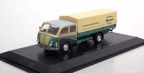 1:43 Schuco Saurer 3C-H truck Bachmann green-creme