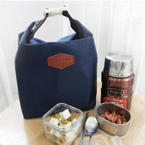 Tote-Portable-Insulated-Pouch-Cooler-Waterproof-Food-Storage-Bag-Navy-Nylon-HOT