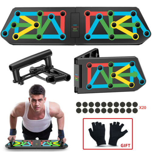 14 in 1 Push Up Rack Board System Fitness Workout Training Gym Exercise