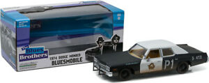 GREENLIGHT-84011-DODGE-MONACO-BLUESMOBILE-model-car-from-THE-BLUES-BROTHERS-1-24