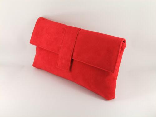 Fab Large Faux Suede Clutch Bag//Shoulder Bag