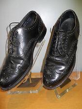 Vintage Stuart Holmes Imperial 60s Biltrite Black WingTip Brogue Shoes Teddy Boy