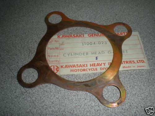1966-1971 Kawasaki A1 250 A1SS Cylinder Head Gasket Set 2 Lot OEM NOS 11004-023