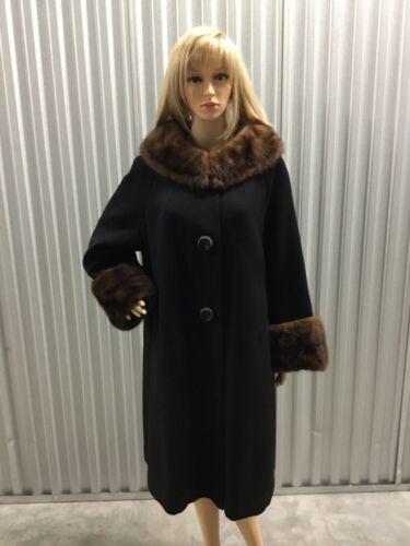 Vintage Wool & Mink Swing Coat