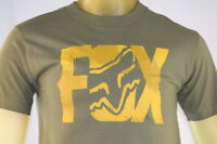 Fox Racing Green Men's Graphic T-shirt W/ Gold fox Logo Size Small