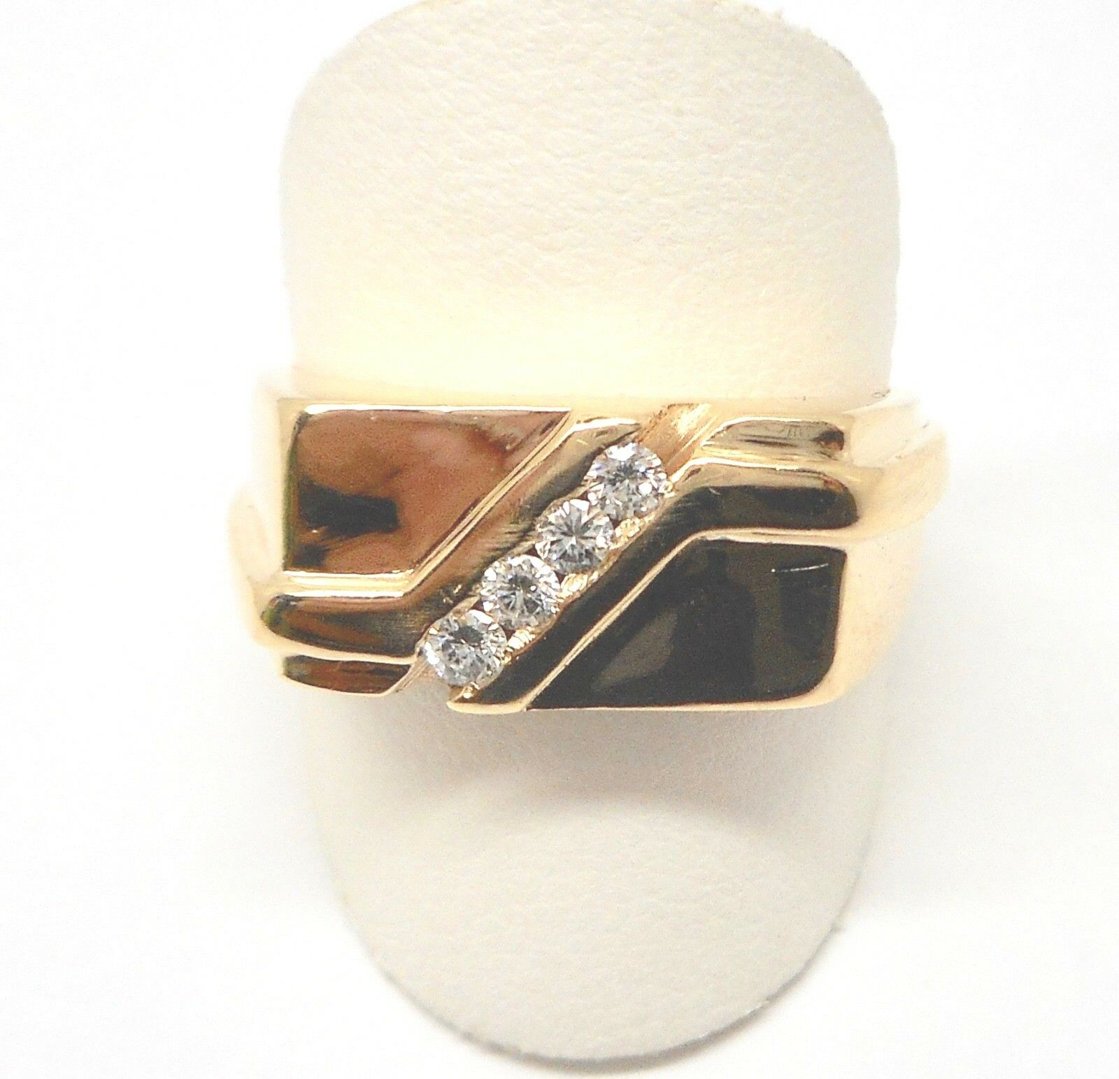 14K YELLOW gold MENS DIAMOND RING .25CTW RETAIL  1250 JG1