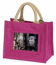 Stunning Owl in Tree Little Girls Small Pink Shopping Bag Christmas Gi, AB-87BMP