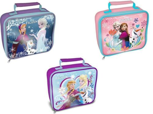 Disney Frozen Elsa Anna Olaf Insulated lunch Bag Princess Thermal Box Official