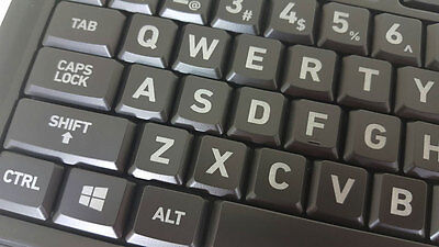 Brand NEW Azio Double Size Large Print Keyboard w/3 Colors LED Backlit~USB Wired