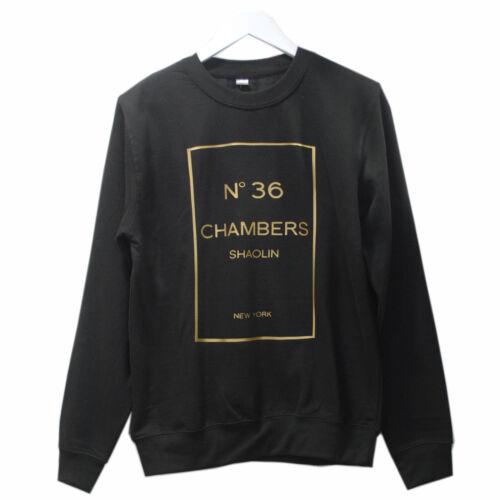 Chambers Crew 36 Wu Neck realtà Gold Tang in Sweatshirt On Black Fatta 1Z8pUp
