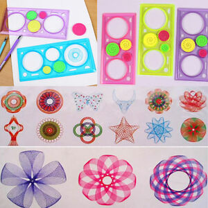 Drawing-Arts-Drafting-Stencil-Spiral-Tools-Stationery-Geometric-Spirograph-Ruler