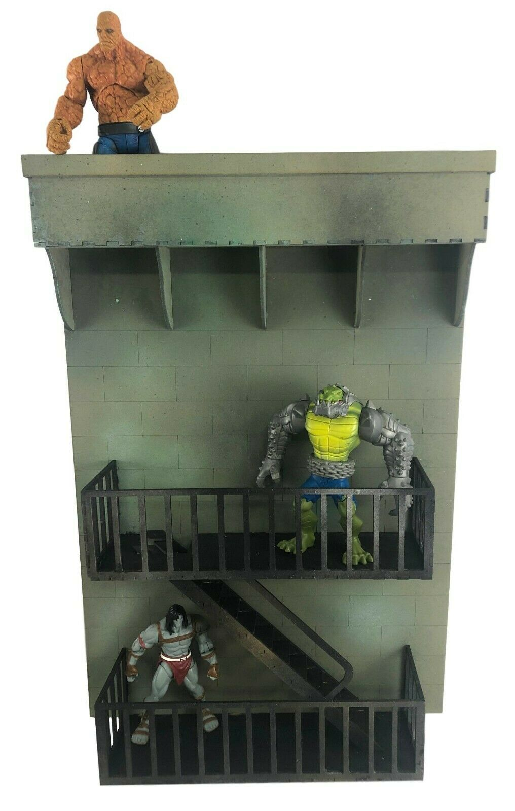 Fire Escape Building Wall 5  6  7  Action Figure Diorama Kit Background Scenery