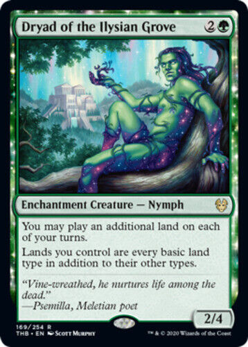 Dryad of the Ilysian Grove x1 Magic the Gathering 1x Theros Beyond Death mtg car