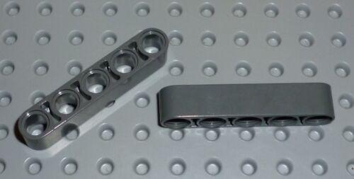 TECHNIC TK523 Thick 1 x 5 DARK BLUISH GREY x 2 LEGO LIFTARM 32316