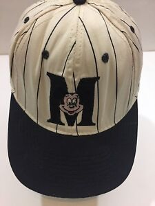 Vintage-Mickey-Mouse-Goofys-Hat-Co-Baseball-Adjustable-Hat-White-Blue-Striped