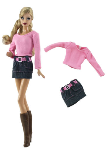 Doll Clothes a08 2 Pcs Set Fashion Outfit Top+short skirt FOR 11 in
