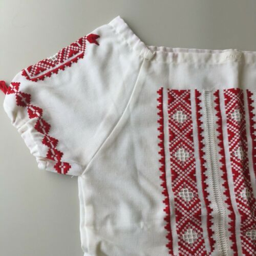 Vintage Hungarian Blouse Embroidered Peasant Top … - image 1