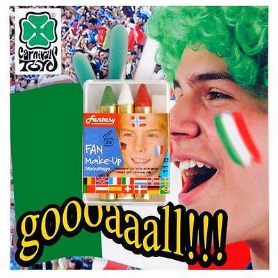 Imparziale Trucco Makeup Carnevale Matite Mondiali Europei Italia Bandiera Italiana Diversificato Nell'Imballaggio