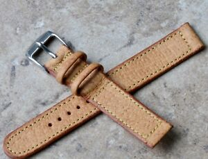 Classic-fully-stitched-Genuine-Pigskin-15-5mm-vintage-watch-strap-1940-1950s-NOS