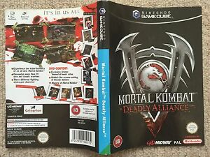 Details about COVER INSERT ONLY Mortal Kombat Deadly Alliance - GameCube  Box Cover Art Only