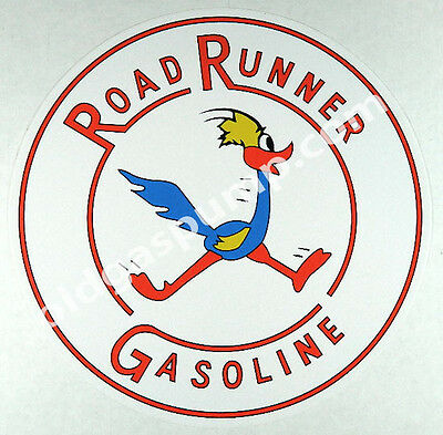 "ROAD RUNNER GASOLINE 12/"" VINYL GAS /& OIL PUMP DECAL DC-326"