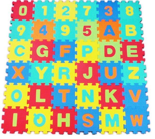 Alphabet Numbers EVA Floor Mat Baby Room Jigsaw Mat Soft Foam Large Tiles