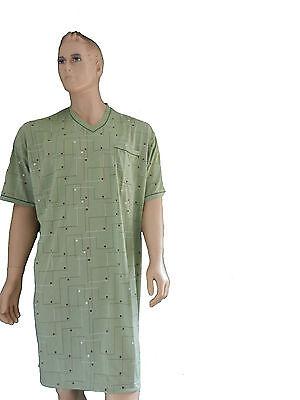 d162395a260c86 Übergröße Herren Nachthemd XXL -XXXXXL kurzer Arm Baumwolle   eBay