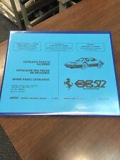 Ferrari BB 512 Berlinetta Boxer Parts Manual Catalogue