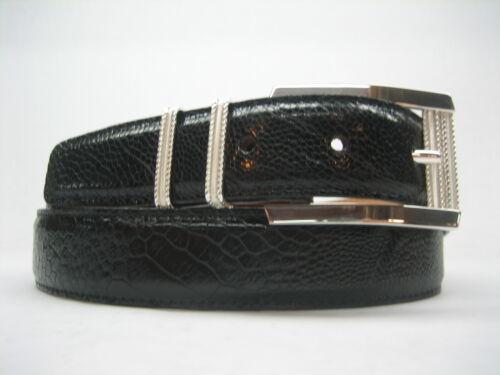 Sterling silver 925 buckle 2 loops w//Genuine Ostrich 30 mm belt shantpeter U.S.A